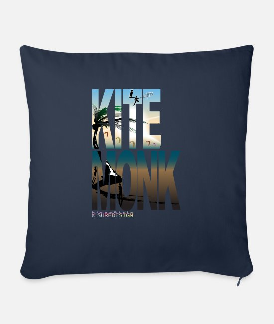 Surf Pillow Cases - KITEMONK - Sofa pillow with filling 45cm x 45cm navy