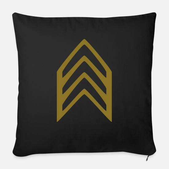 Game Pillow Cases - Military Insignia Badge - Sofa pillow with filling 45cm x 45cm black