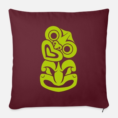 Tikki Tikki // green - Sofa pillow with filling 45cm x 45cm