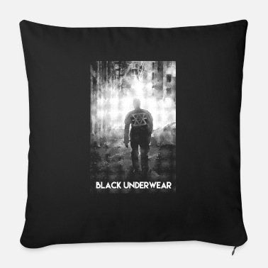 Man Underwear Black Underwear Man in the Dark - Sofa pillow with filling 45cm x 45cm