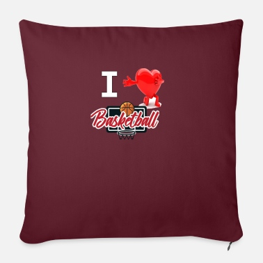 I Love Basketball I love basketball - Sofa pillow with filling 45cm x 45cm