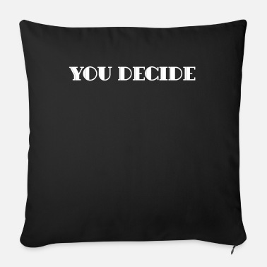 Typography typography - Sofa pillow with filling 45cm x 45cm