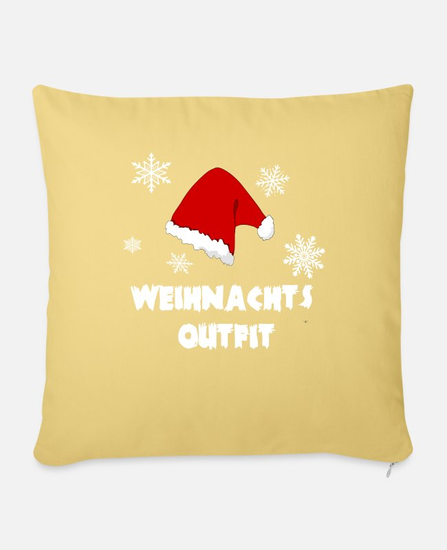 Christmas Pillow Cases - Christmas outfit - Sofa pillow with filling 45cm x 45cm washed yellow
