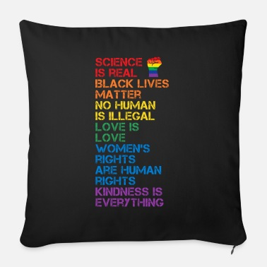 Fist Science Is Real Black Lives Matter LGBT BLM Fist - Sofa pillow with filling 45cm x 45cm