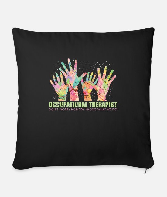 Occupational Therapy Pillow Cases - occupational Therapy - Sofa pillow with filling 45cm x 45cm black