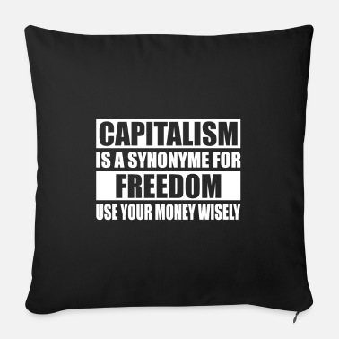 Capital Capitalism capital - Sofa pillow with filling 45cm x 45cm