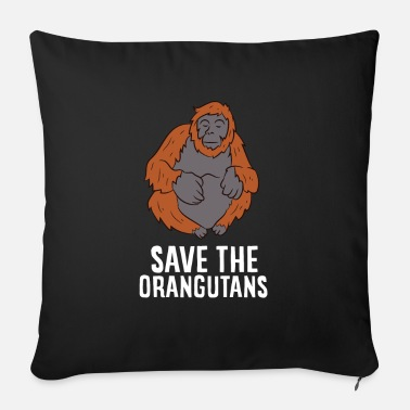 Girl Save The Orangutans Love Orangutans - Sofa pillow with filling 45cm x 45cm