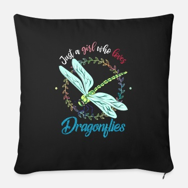 Fly-insect Dragonfly girl - Sofa pillow with filling 45cm x 45cm