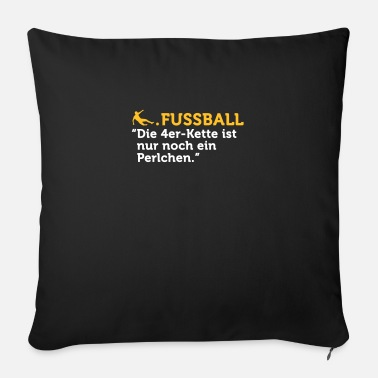 Defence Football Quotes: Line Of Defence - Sofa pillow with filling 45cm x 45cm