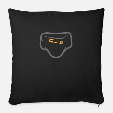 Parents Underwear Diaper With A Safety Pin - Sofa pillow with filling 45cm x 45cm