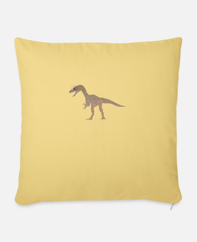 Primeval Times Pillow Cases - Dino 115 - Sofa pillow with filling 45cm x 45cm washed yellow
