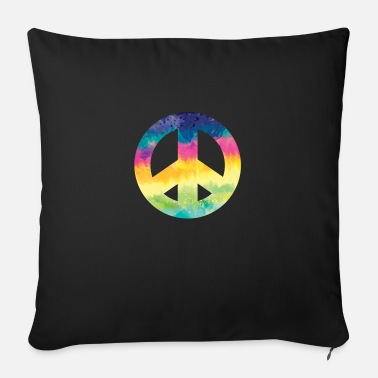 Adhd Symbols Tie Dye Peace Symbol - Sofa pillow with filling 45cm x 45cm