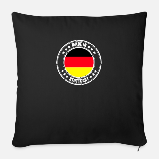 Stuttgart Pillow Cases - STUTTGART - Sofa pillow with filling 45cm x 45cm black