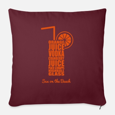 Beach Cocktails - bunt und lecker: Sex on the Beach - Sofa pillow with filling 45cm x 45cm