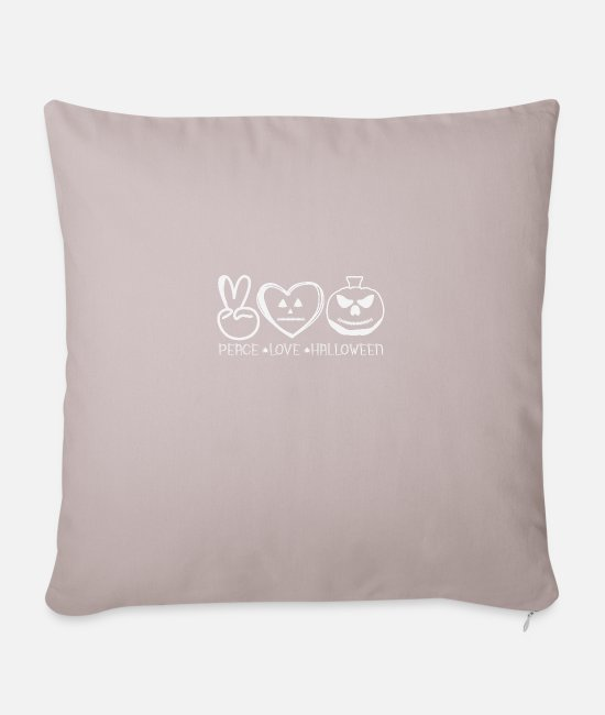 Witchcraft Pillow Cases - peace love halloween - Sofa pillow with filling 45cm x 45cm light taupe