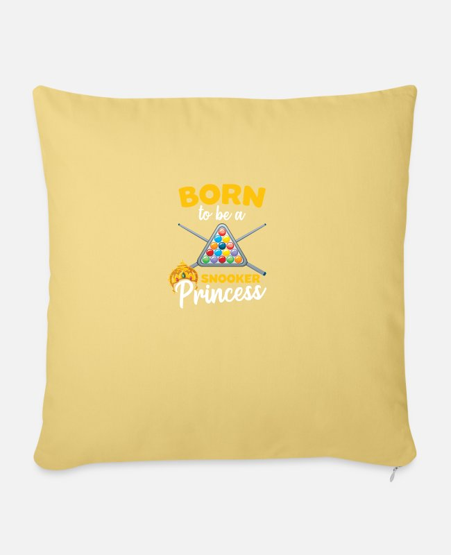 Billards Pillow Cases - Funny Snooker Sayings Born to be a Snooker - Sofa pillow with filling 45cm x 45cm washed yellow