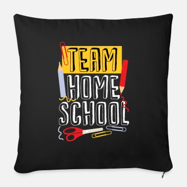 School Team Homeschool Quarantine Teacher - Bankkussen met vulling 44 x 44 cm