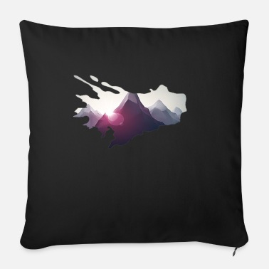 Mountains in comic style - mountaineering - Sofa pillow with filling 45cm x 45cm