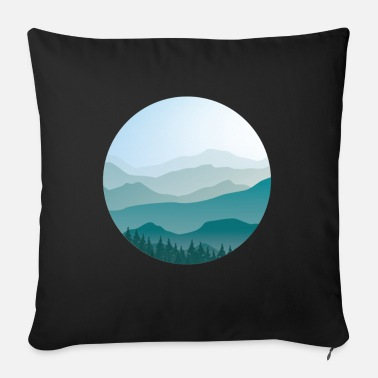 Landscape in cartoon style - landscape - Sofa pillow with filling 45cm x 45cm