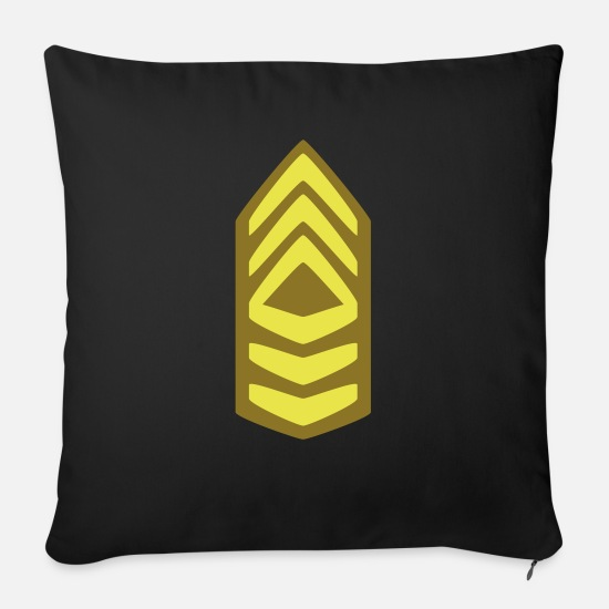 Army Pillow Cases - Insignia Master Sergeant - Sofa pillow with filling 45cm x 45cm black