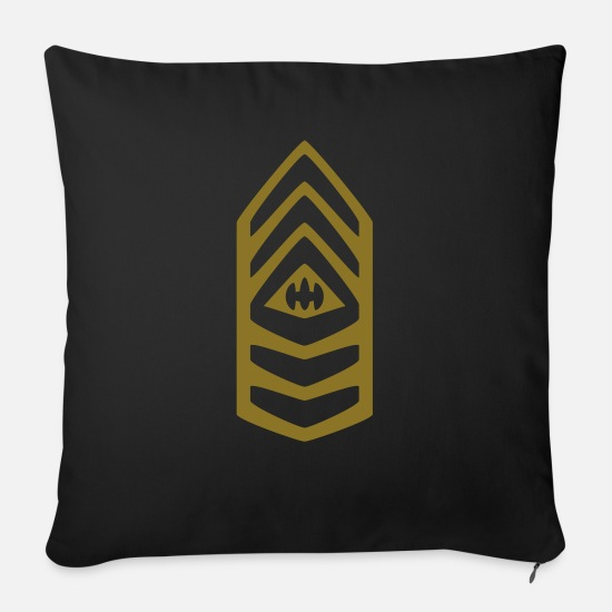 Army Pillow Cases - Insignia Sergeant of the Army - Sofa pillow with filling 45cm x 45cm black