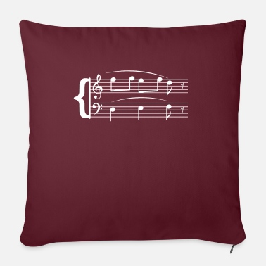 Music Lover Musician T-Shirt Men and Women Shirt Sheet Music - Sofa pillow with filling 45cm x 45cm