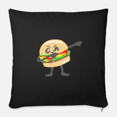 Voedsel Dansende steppen Rocking Beaten Dances Burger - Bankkussen met vulling 44 x 44 cm