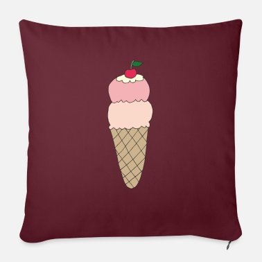Ice cream with cherry - Sofa pillow with filling 45cm x 45cm