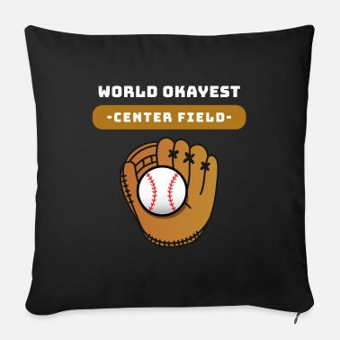 Honkbal Center Field Baseball Left Right Field gezegde - Bankkussen met vulling 44 x 44 cm