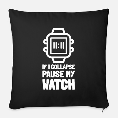 Running Jogging Watch Timer Jogger Runner Run Marathon - Sofa pillow with filling 45cm x 45cm