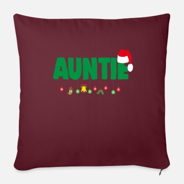 Loves Christmas Auntie Aunt Xmas Apparel - Sofa pillow with filling 45cm x 45cm