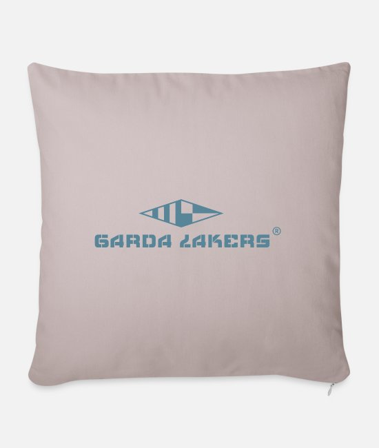 Sail Boat Pillow Cases - Garda Lakers logo - Sofa pillow with filling 45cm x 45cm light taupe