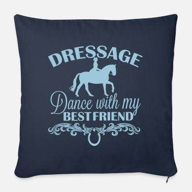 Dressage Dressage Dance with my best friend - Sofa pillow with filling 45cm x 45cm