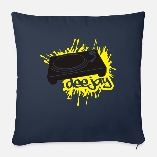 Hardstyle Pillow Cases - Deejay - Sofa pillow with filling 45cm x 45cm navy