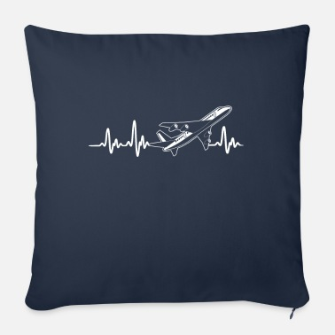 Commercial COMMERCIAL PLANES - HEARTBEAT - Sofa pillow with filling 45cm x 45cm