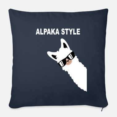 Manure Fork Funny alpaca design alpaca style saying - Sofa pillow with filling 45cm x 45cm