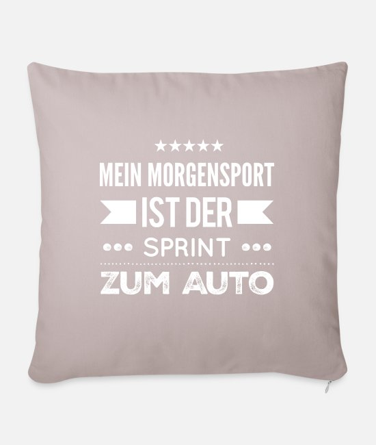 Quote Pillow Cases - Sports sports muffle - Sofa pillow with filling 45cm x 45cm light taupe