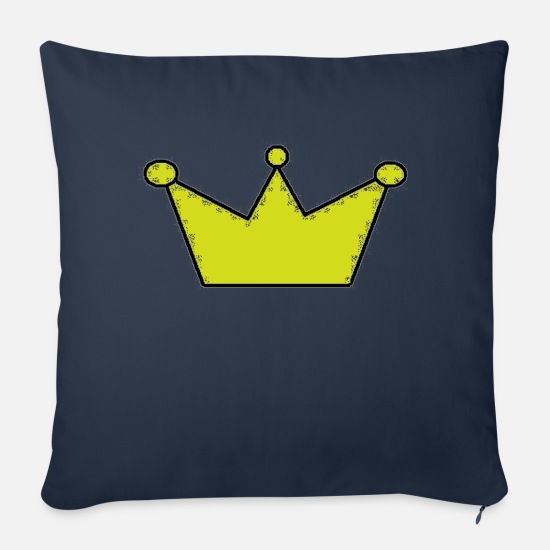 Gold Pillow Cases - crown - Sofa pillow with filling 45cm x 45cm navy