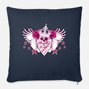 Glamour Skull / Skull Pink Glamour - Sofa pillow with filling 45cm x 45cm