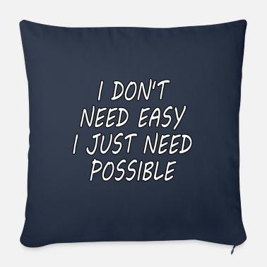 Hustle Make it possible inspirational shirt gift idea - Sofa pillow with filling 45cm x 45cm