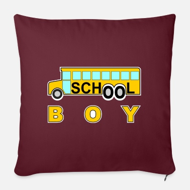 School school school boy school school bus #school% school - Sofa pillow with filling 45cm x 45cm