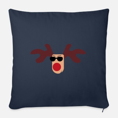 Rudolph festive print - Sofa pillow with filling 45cm x 45cm