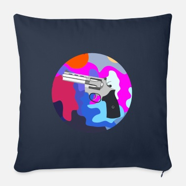 Of Arms Round Revolver Art Painting - Sofa pillow with filling 45cm x 45cm