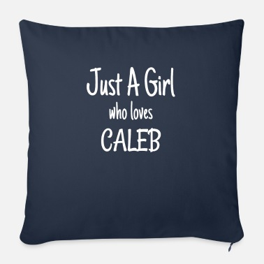 Caleb Funny Just A Girl Who Loves Caleb product - Bankkussen met vulling 44 x 44 cm