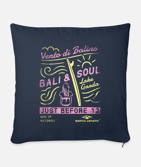 Sail Boat Pillow Cases - Garda Lakers Bali & Soul - Sofa pillow with filling 45cm x 45cm navy
