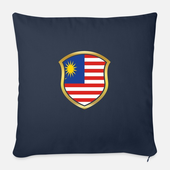 Soccer Pillow Cases - World Champion Champion 2018 wm team Malaysia png - Sofa pillow with filling 45cm x 45cm navy
