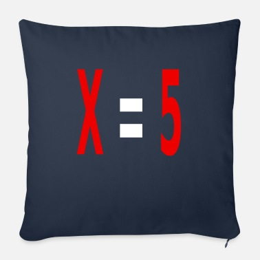 Variable Not Found x equals 5 v2 white - Sofa pillow with filling 45cm x 45cm