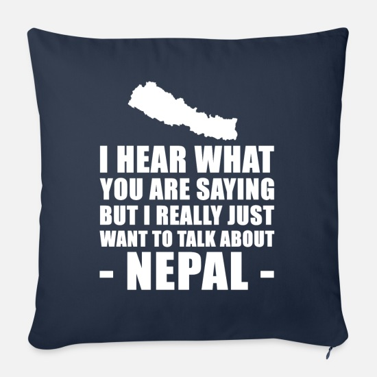 Nepal Pillow Cases - Funny Nepal holiday gift idea - Sofa pillow with filling 45cm x 45cm navy