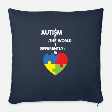 Asd Heart Puzzle - Autism Seeing The World Differently - Sofa pillow with filling 45cm x 45cm