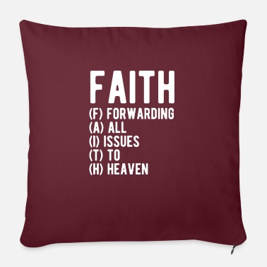Calligraphy Faith Forwarding All Issues To Heaven - Sofa pillow with filling 45cm x 45cm